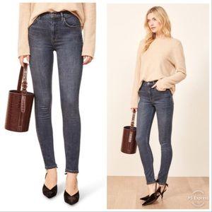 Reformation High & Skinny Denim Jeans Size 30